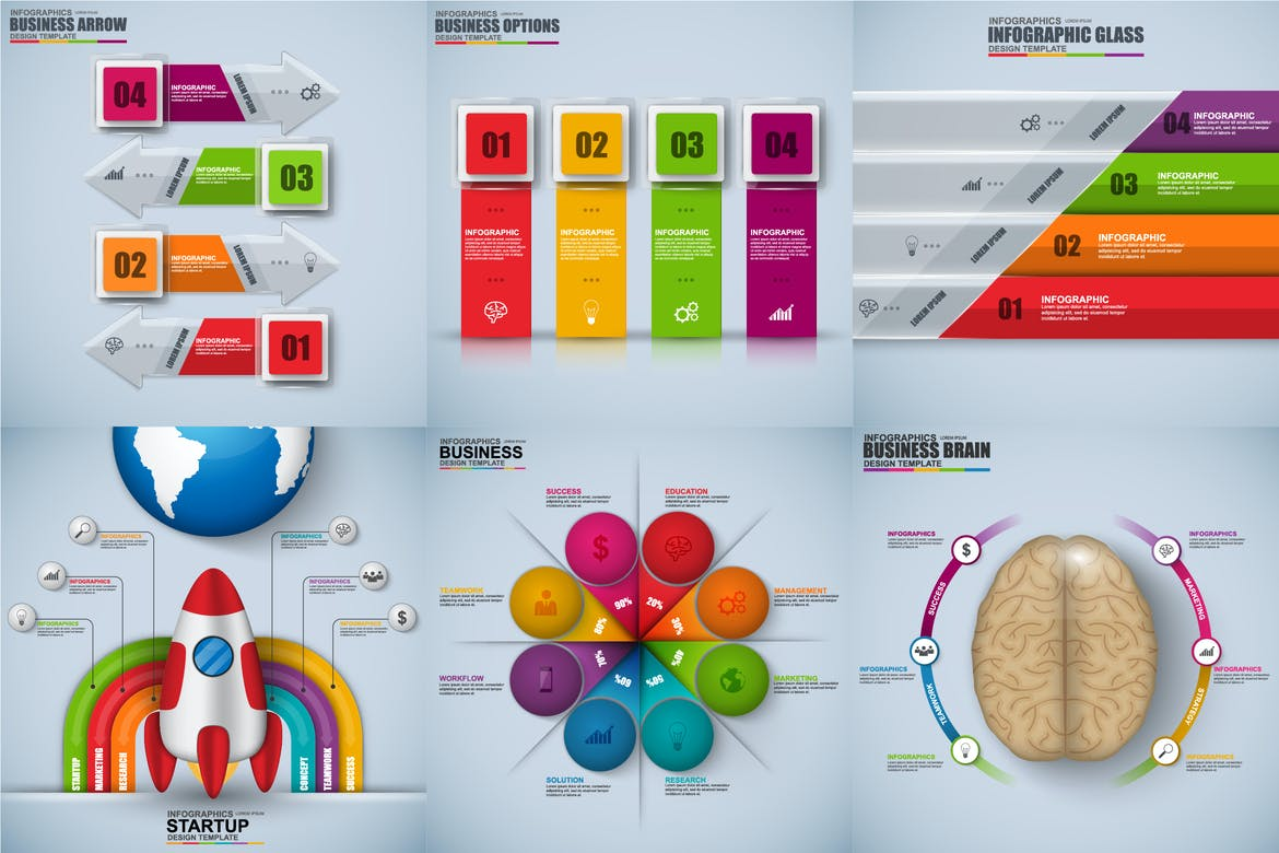 3D Infographics Template